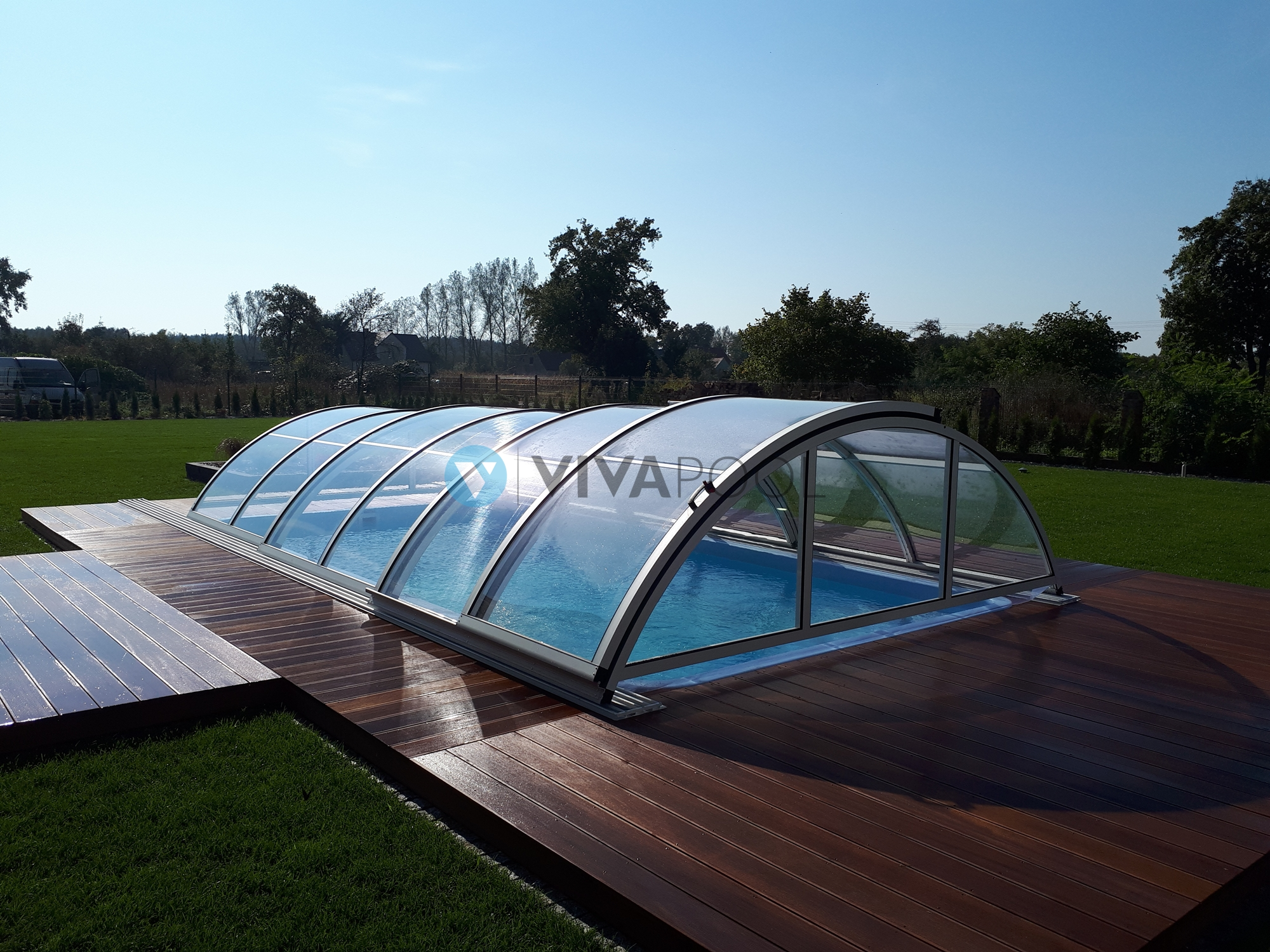 Góra Zadaszenie basenu ogrodowego | producent VIVAPOOL XC79