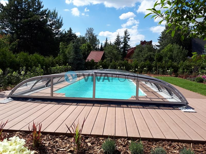 eleganckie zadaszenie basenu vivapool elegant zadaszenie basenowe