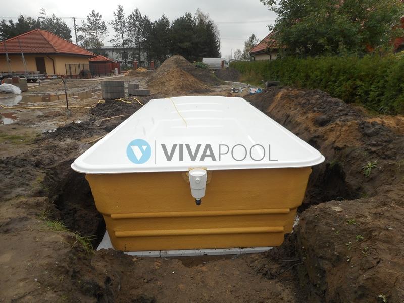 basen poliestrowy biały vivapool