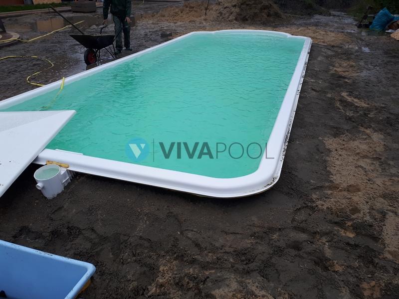 budowa basenu poliestrowego vivapool baseny
