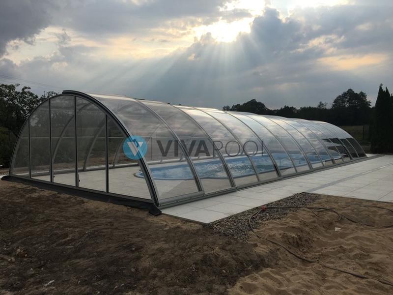 basen z zadaszeniem vivapool z bialegostoku realizacja