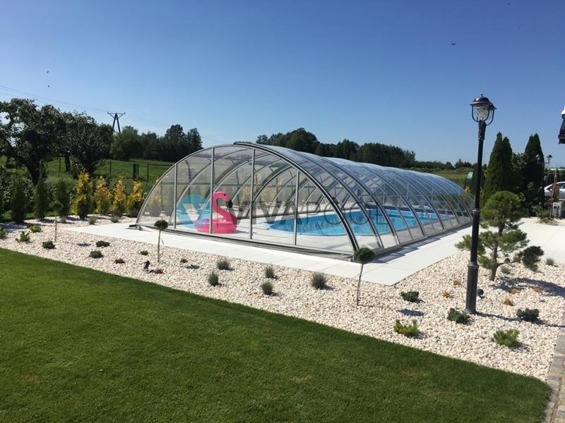 gotowe baseny producent vivapool bialystok poliestrowe wkopywane z zadaszeniem