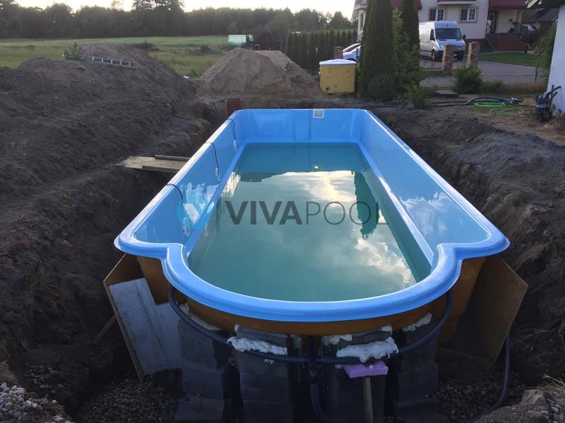 budowa basenow vivapool poliestrowe wkopywane baseny