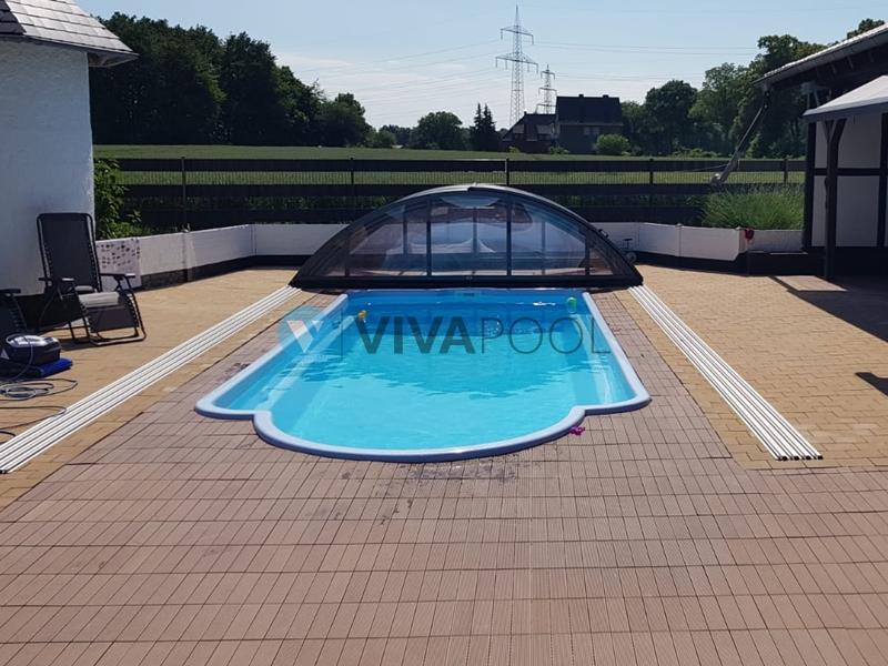 basen z zadaszeniem antrazyt vivapool