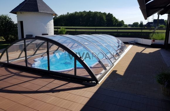 basen i zadaszenie, vivapool, sredni basen wkopywany