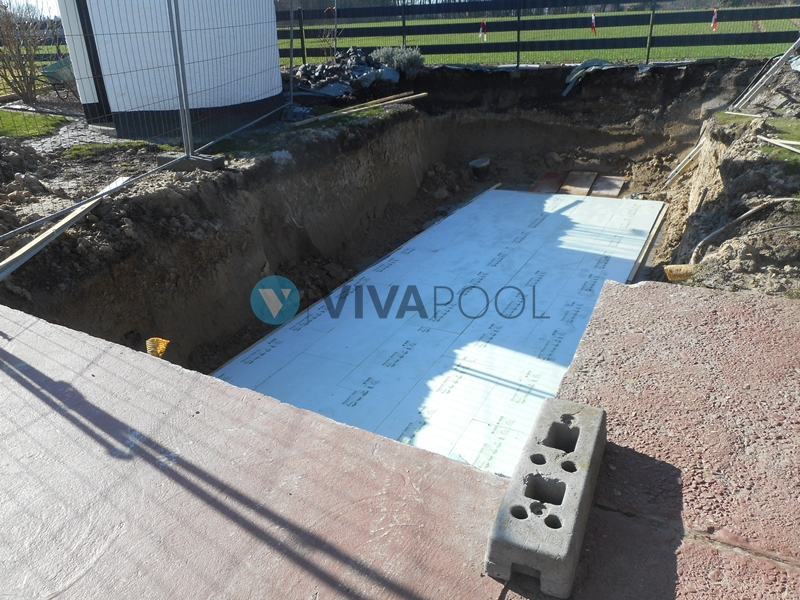 płyta pod basen, budowa basenów, vivapool, baseny ogrodowe