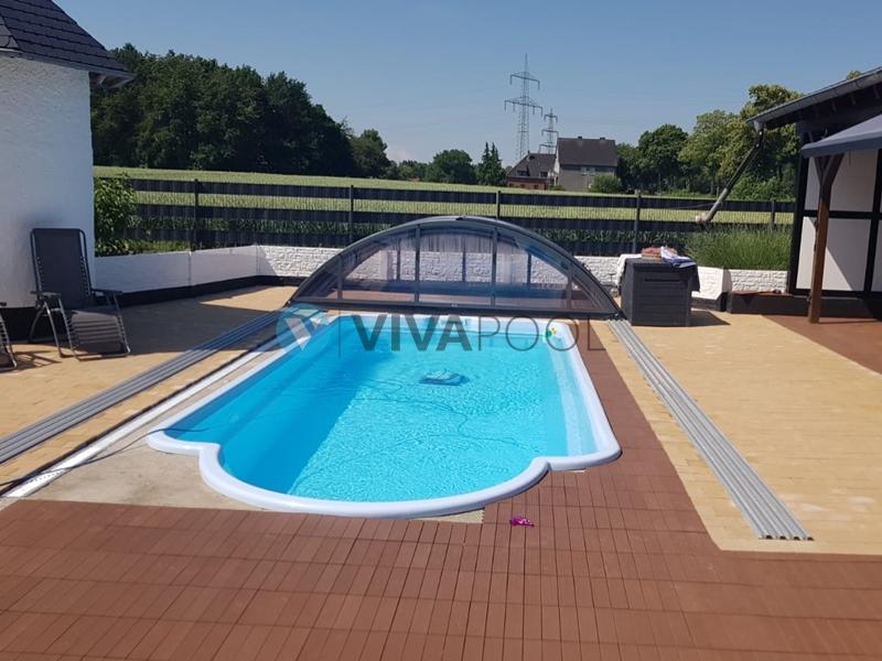 wykończenie basenu poliestrowego, vivapool baseny ogrodowe